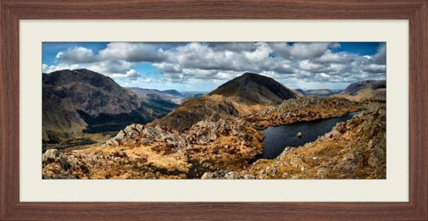 Pillar and High Crag from Haystacks - Framed Print with Mount