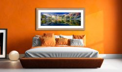 Buttermere Tranquility - Framed Print with Mount on Wall