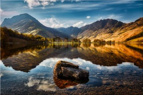The Buttermere Rock - Canvas Print