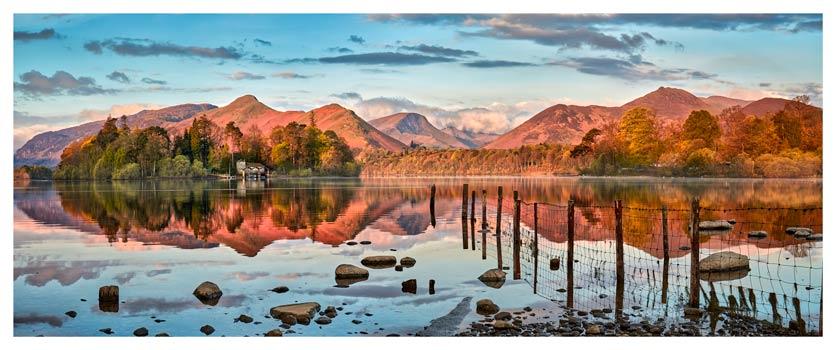 Derwent Water Red Mountains - Lake District Print