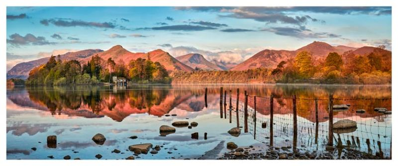 Derwent Water Red Mountains - Lake District Print