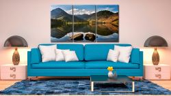 Beautiful Buttermere - 3 Panel Canvas on Wall
