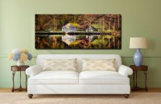 Coniston Boathouse Reflections - Canvas Print on Wall