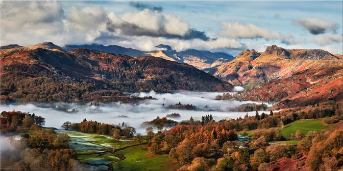 Autumn Morning in Langdale - Canvas Print