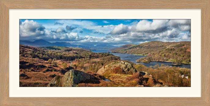 Coniston Water Panorama - Framed Print