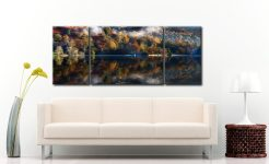 Rydal Water in Autumn  - 3 Panel Wide Mid Canvas on Wall