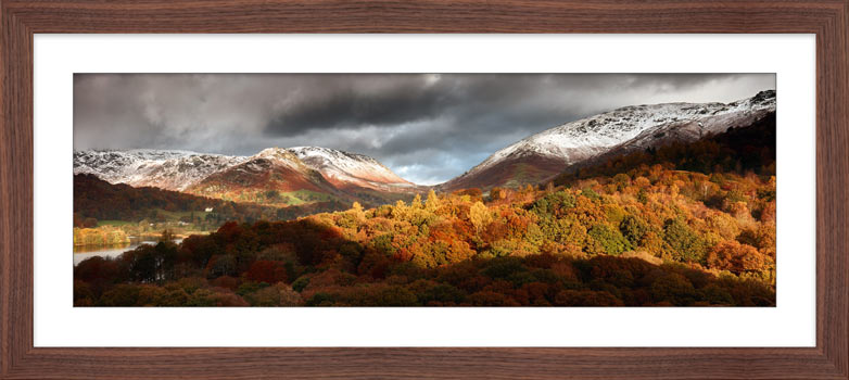 Autumn Fades Over Grasmere - Framed Print with Mount