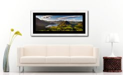 Morning Sunshine on Crummock Water - Framed Print with Mount on Wall