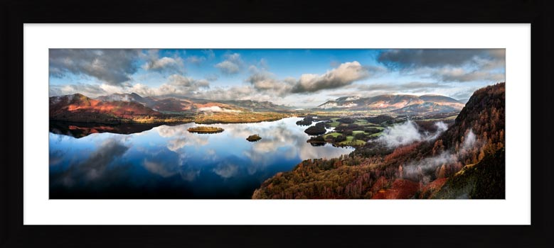 Derwent Water Morning Mists - Framed Print