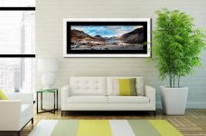 Snowy Day at Wast Water - Framed Print with Mount on Wall
