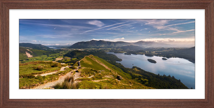 Cat Bells Panoramic View - Framed Print
