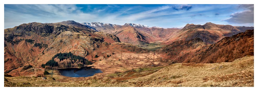 Lingmoor Fell Panorama - Lake District Print