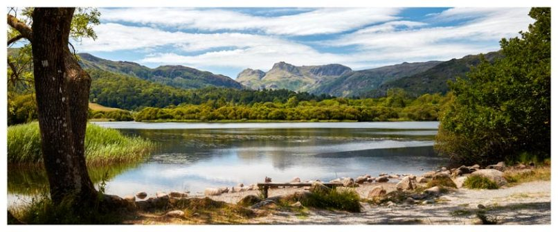 Elterwater Summer Afternoon - Lake District Print