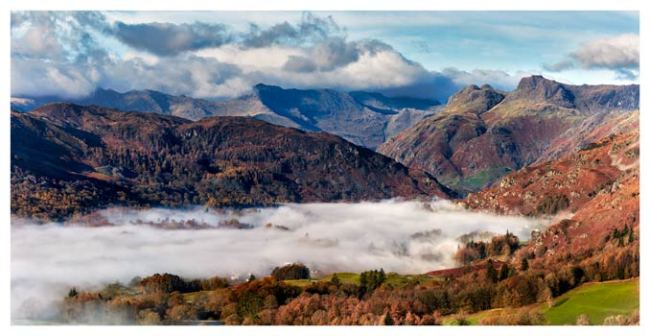 Great Langdale Mountains and Mist - Lake District Print