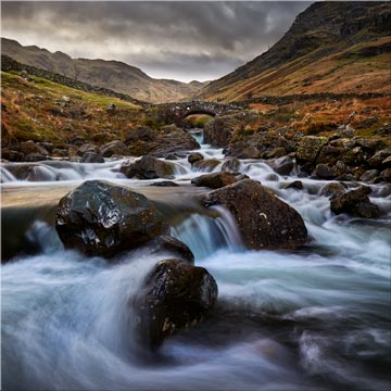 Stockley Bridge Grains Gill - Canvas Print