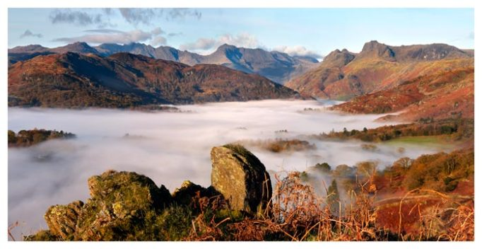 Langdale Valley Cloud Inversion - Lake District Print