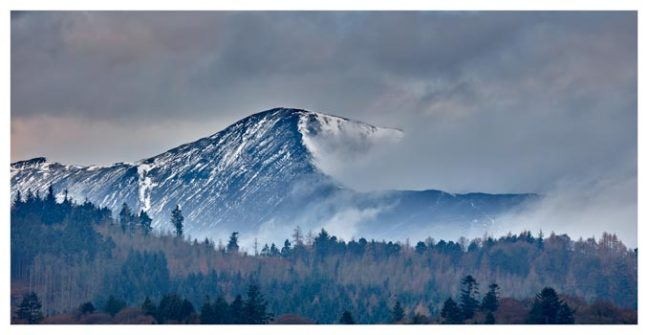 Snowy Grisedale Pike - Lake District Print