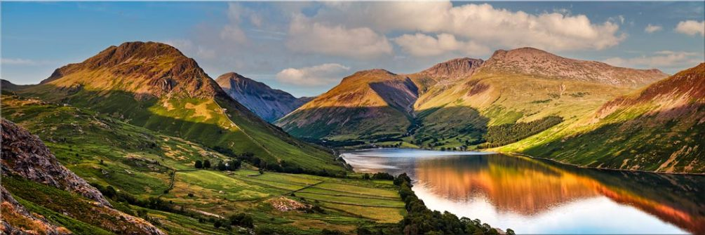 Wast Water in the Evening Sun - Canvas Print