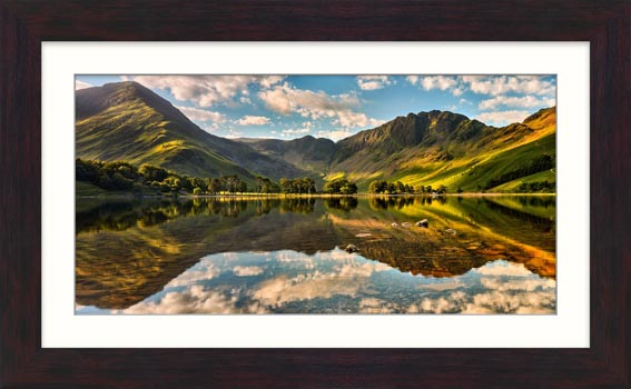 The Greens of Buttermere - Framed Print with Mount