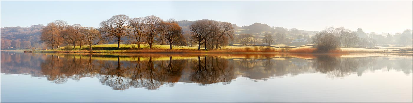 Misty Morning at Esthwaite Water - Canvas Print