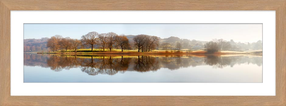 Misty Morning at Esthwaite Water - Framed Print