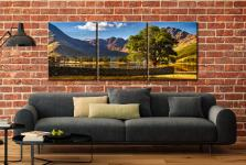 The Buttermere Oak Tree - 3 Panel Canvas on Wall