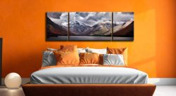Great Gable and Lingmell - 3 Panel Wide Mid Canvas on Wall