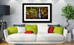 Stanley Ghyll Force Gorge - Framed Print with Mount on Wall