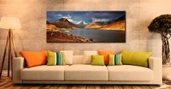 Warm Sunlight on Wasdale Head - Canvas Print on Wall
