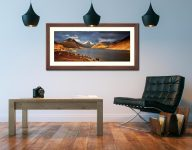 Warm Sunlight on Wasdale Head - Framed Print with Mount on Wall