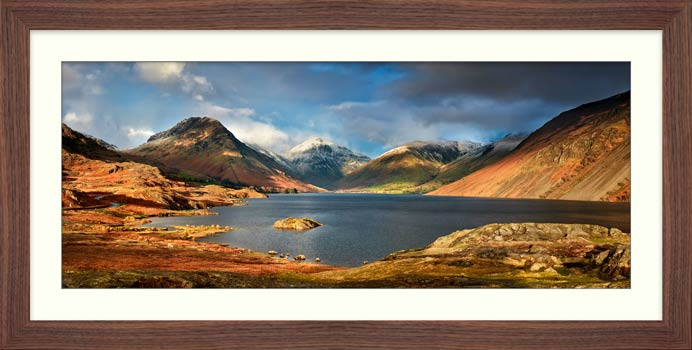 Wast Water Sunlight - Framed Print