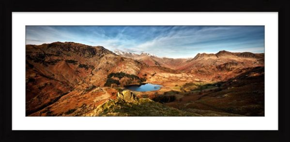 Blea Tarn From Lingmoor Fell - Framed Print with Mount