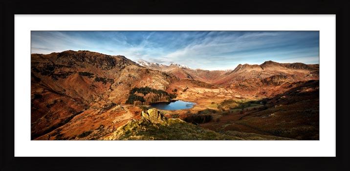 Blea Tarn From Lingmoor Fell - Framed Print with Mount