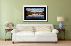 Light on the Langdales - Framed Print with Mount on Wall