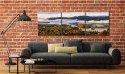 Windermere Morning Mists - 3 Panel Canvas on Wall