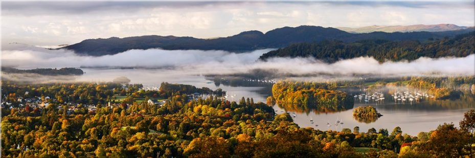 Windermere Morning Mists - Canvas Print