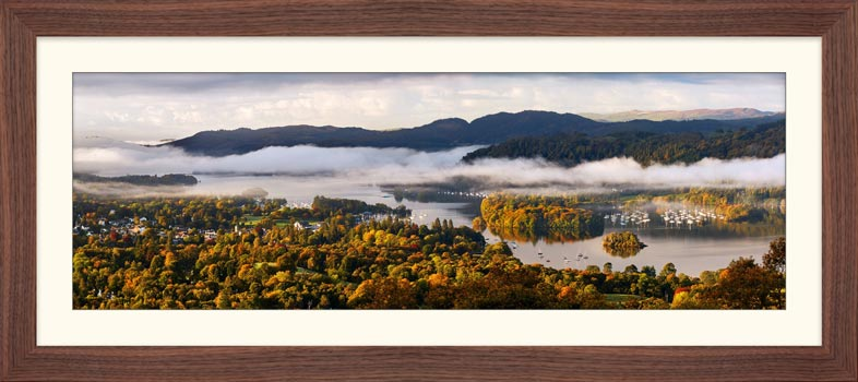 Windermere Morning Mists - Framed Print