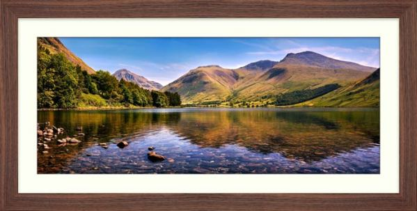 Sca Fell in Summer - Framed Print with Mount