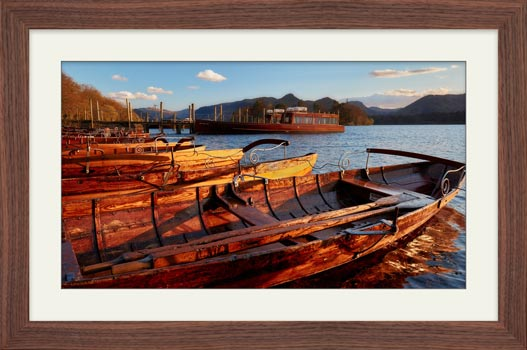 Golden Boats at Dusk - Framed Print