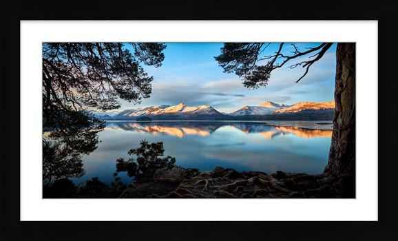 Roots and Mountains Derwent Water - Framed Print with Mount