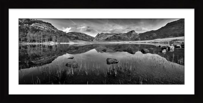 Serenity of Blea Tarn - Black White Framed Print