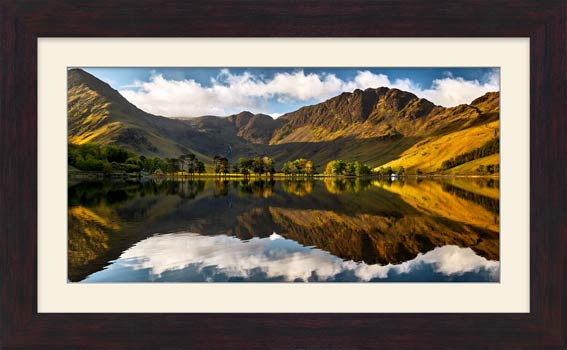 First Light on the Buttermere Pines - Framed Print with Mount