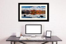 Cat Bells in Autumn - Framed Print with Mount on Wall