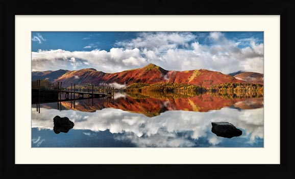 Cat Bells in Autumn - Framed Print with Mount