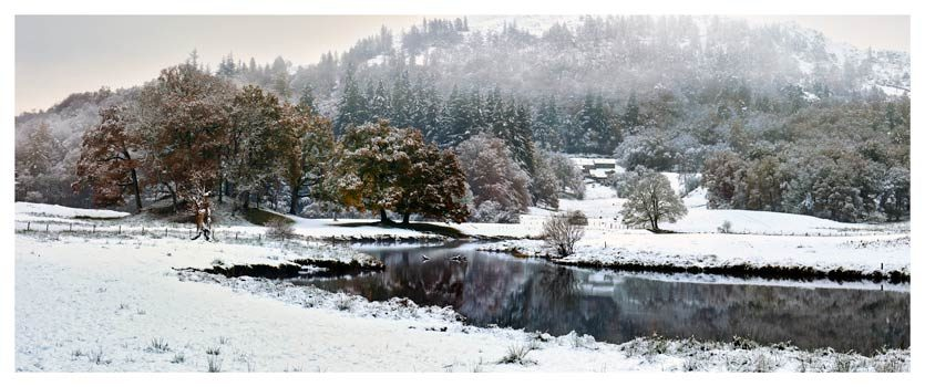 River Brathay Winter Wonderland - Lake District Print