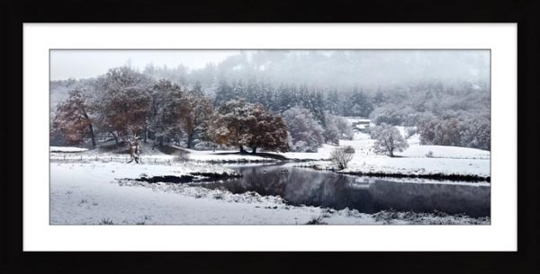 River Brathay Winter Wonderland - Framed Print with Mount