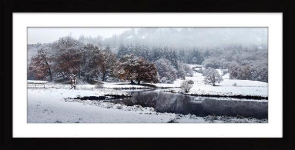 River Brathay Winter Wonderland - Framed Print with Mount