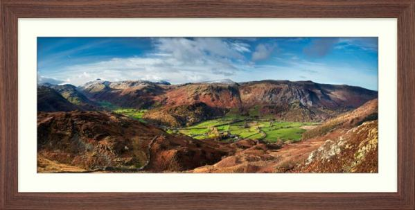 The Green Fields of Borrowdale - Framed Print with Mount
