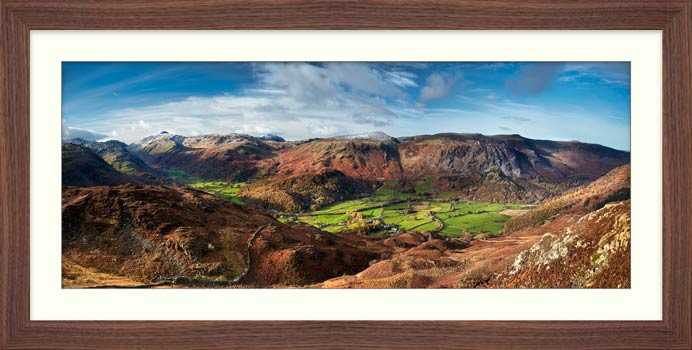 The Green Fields of Borrowdale - Framed Print