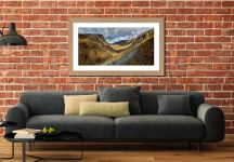 The Honister Pass - Framed Print with Mount on Wall